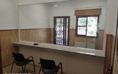 """Las obras de adecuación de una sala en la residencia """"José González Barrero"""" finalizan para que los mayores reciban visitas"""