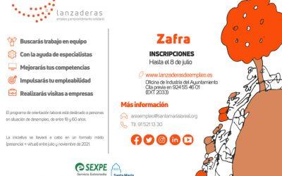 Zafra contará en julio con una nueva Lanzadera de Empleo para ayudar a 20 personas en desempleo a reforzar sus competencias digitales y reactivar su búsqueda de empleo en el mercado actual