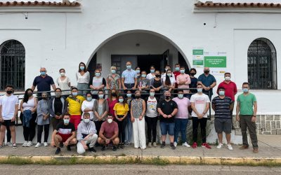 La Escuela Profesional Zafra V inicia su andadura con 30 alumnos-trabajadores de jardinería y albañilería